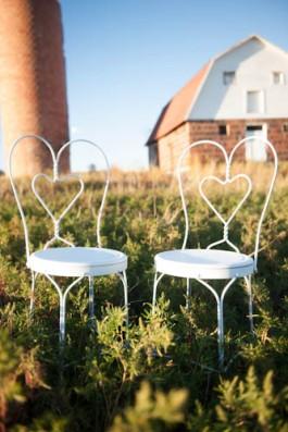 Julie Jones Photography, white heart chairs