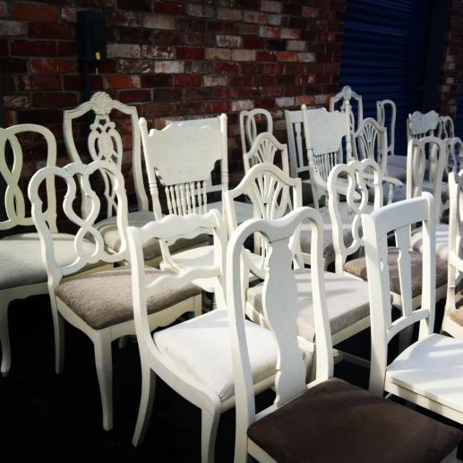 white chair rental vintage denver colorado