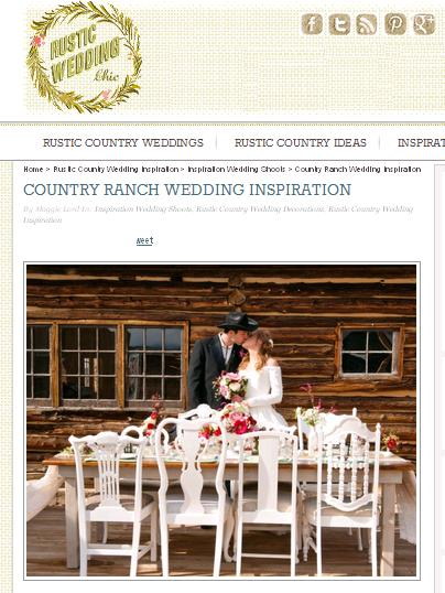 Rustic Wedding Chic feature at Strawberry Creek Ranch near Winter Park with mountain views and white vintage chairs colorado