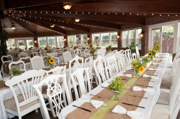 Shannon Kaple Photography, Liongate Dovehouse with white vintage chairs
